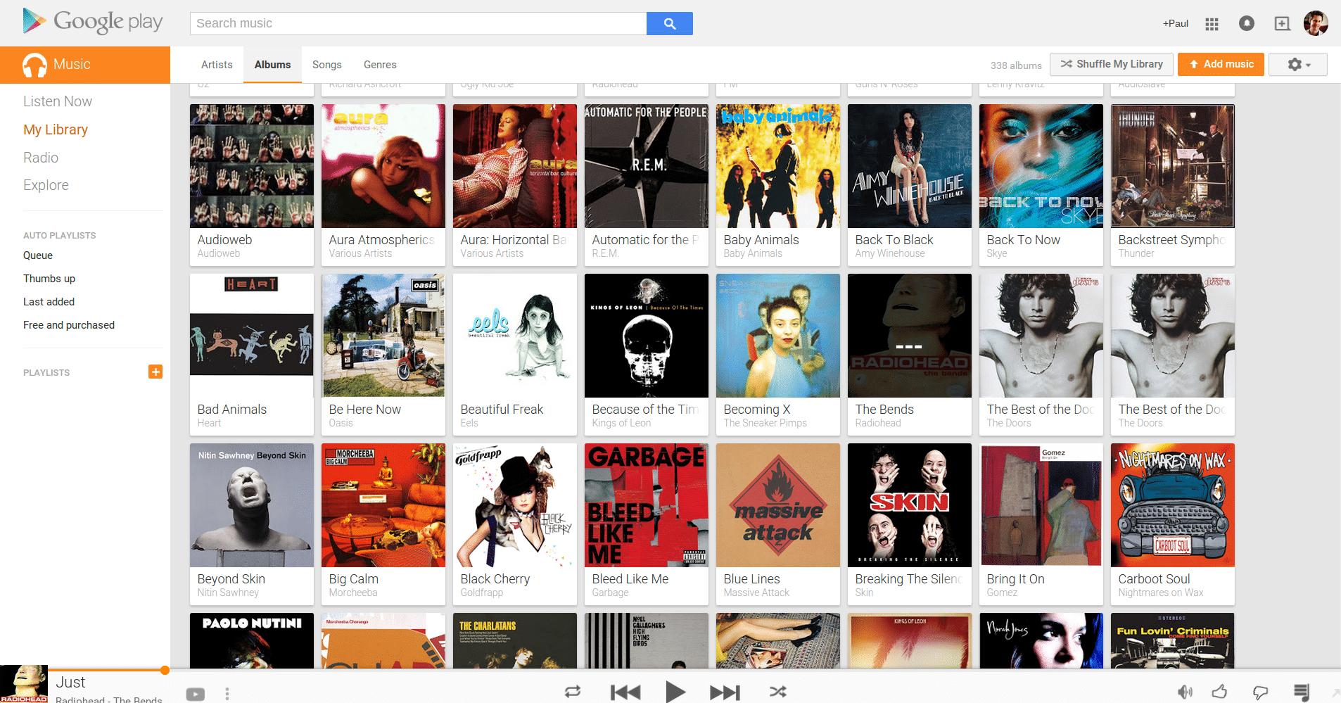 Google Play Music albums