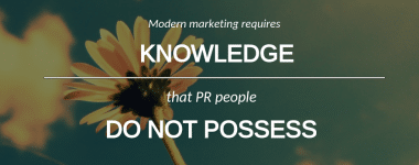 The Future of Communications Lies with Marketing not PR