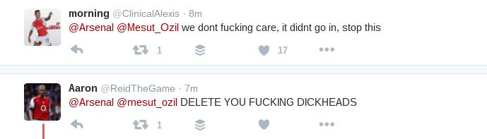 arsenal fan tweets
