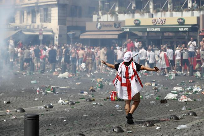 football hooligans at euro2016