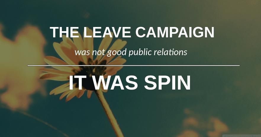 leave campaign pr