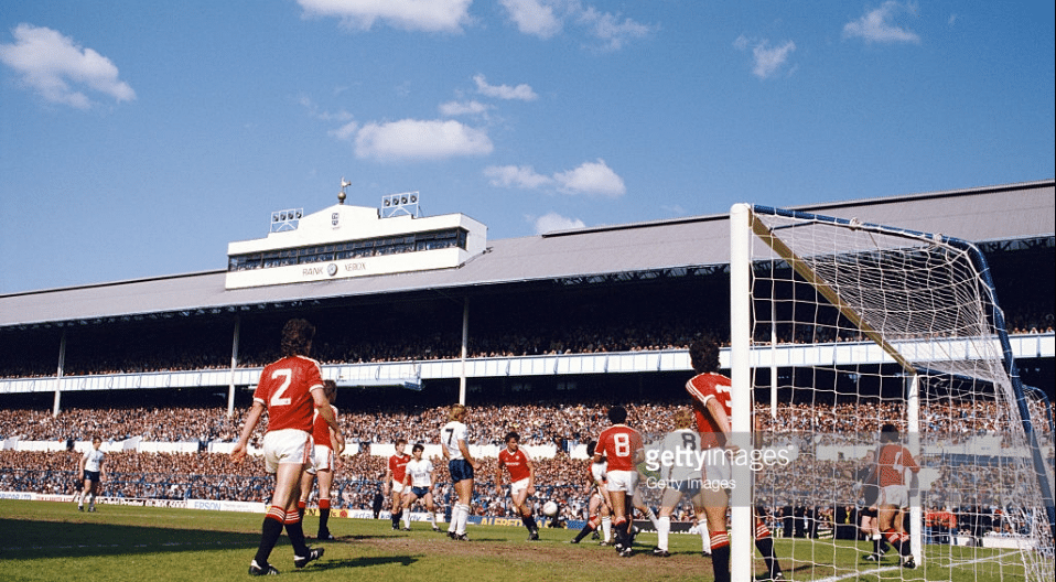 White Hart Lane Spurs v Manchester United 1984
