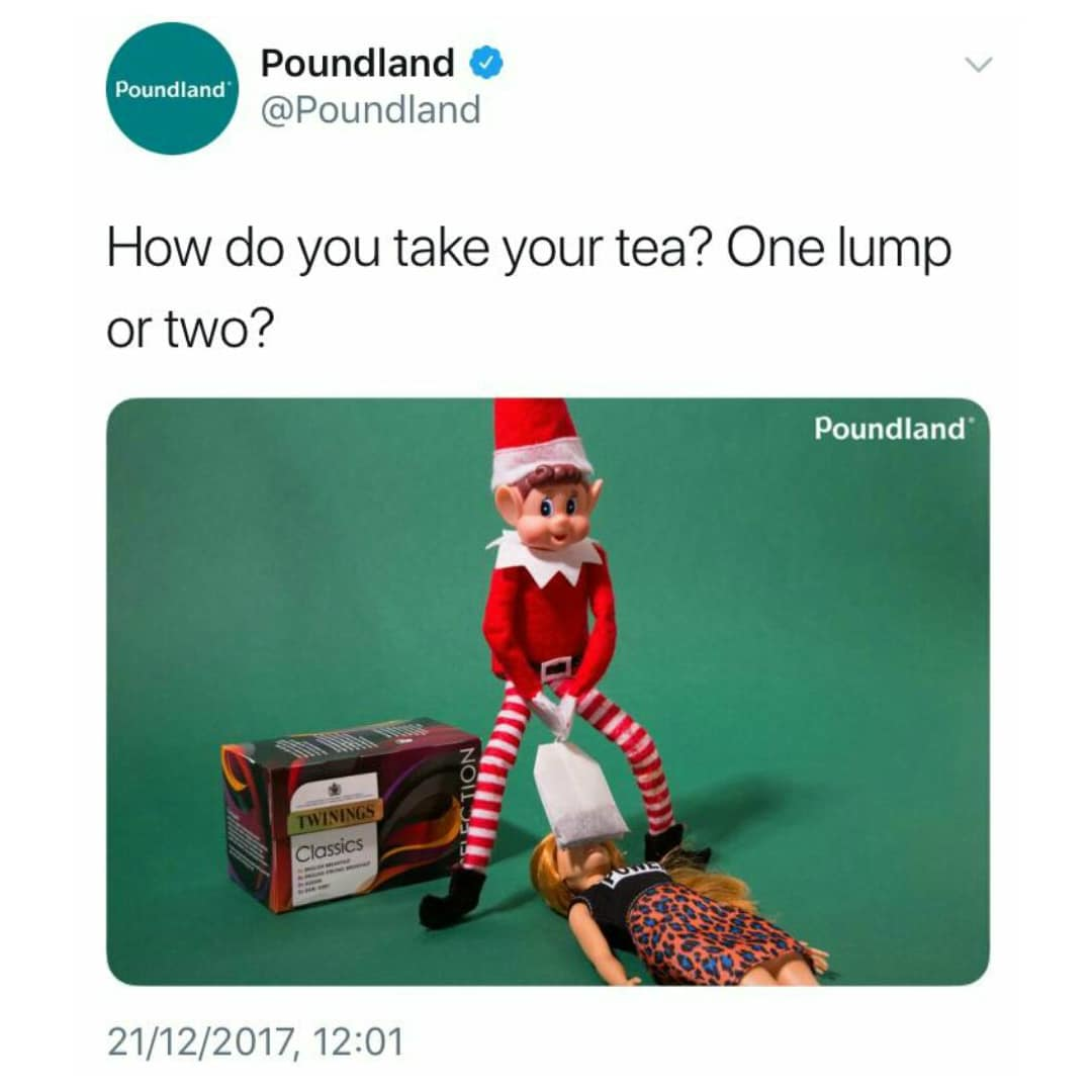 poundland elf teabagging