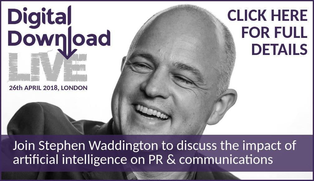 Digital Download Live Stephen Waddington